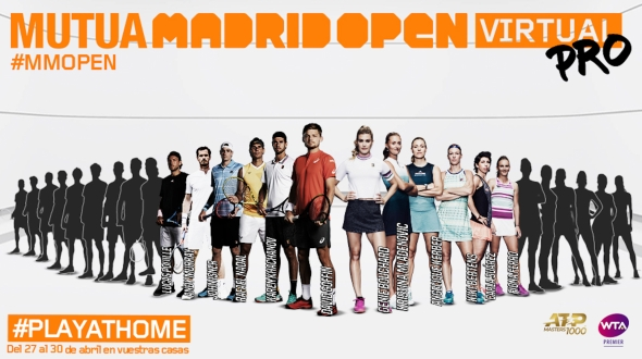 Best ATP and WTA's players to compete in the Mutua Madrid Open Virtual Pro