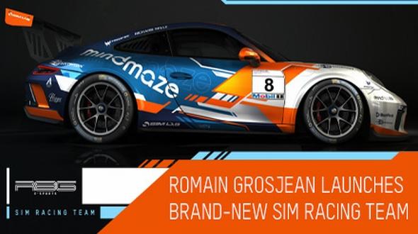 A sim racing team launched by Romain Grosjean