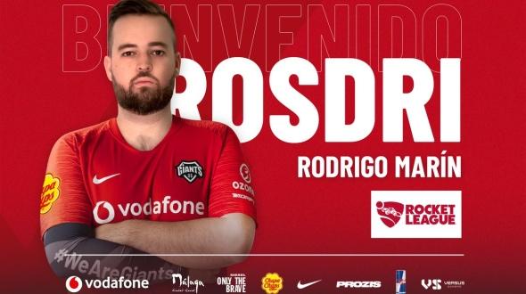 Vodafone Giants ficha a Rostri, el famoso streamer de Rocket League
